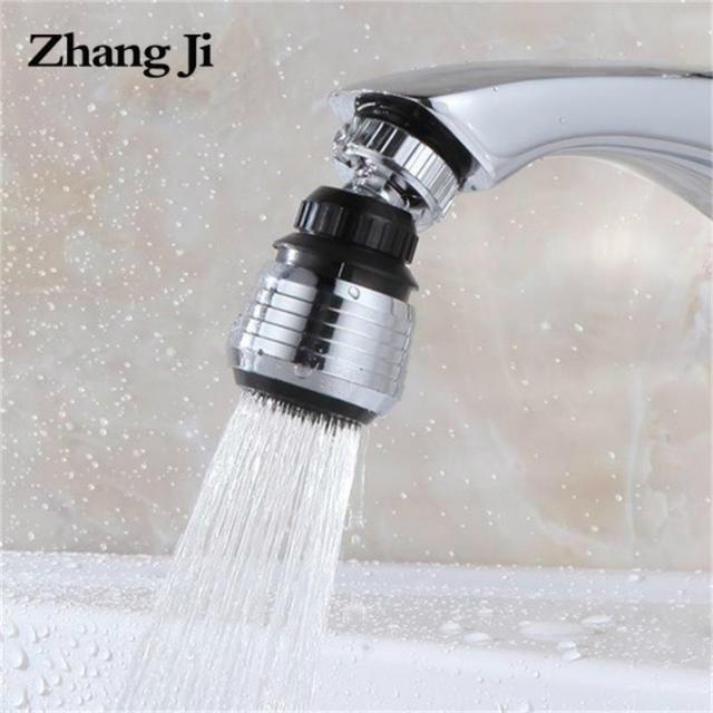 ZhangJi Kitchen Faucet Aerator Water Diffuser Bubbler Zinc alloy shell  Water Saving Filter Shower Head Nozzle Tap Connector
