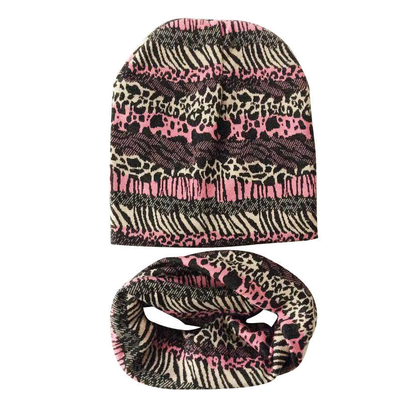 พรางผ้าพันคอหมวกทารกเด็กเด็กสาวเสือดาวฤดูหนาวหมวกผ้าพันคอทั้งหมดสำหรับอุปกรณ์เสริมเด็กและเสื้อผ้า