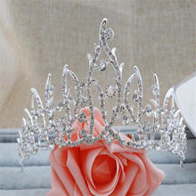 Baroque Bride Tiara Crown Fashion Hair Jewelry Beauty Crowns Headdress Bride Wedding Tiaras banquet Hair accessories