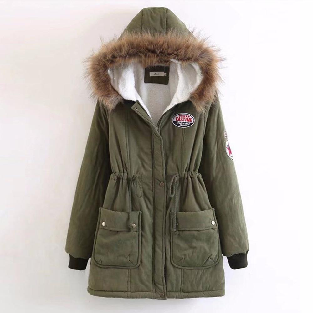 FANALA Winter Coat Women Jacket Parka Faux Fur Hooded Thick Long Sleeve Zipper Drawstring Women's Coats Jackets Plus Size Coat