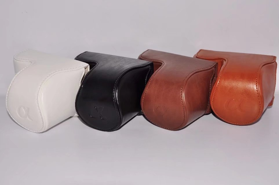 PU Étui de protection Couverture Shell Poche Manches Portant Stockage Caméra sac pour Sony A5000 A5100 Nex 3N Un 5000 5100 Nex3N