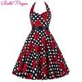 Belle poque audrey hepburn estilo vintage vestidos de verano más el tamaño casual party túnica rockabilly floral 50 s retro swing grande dress