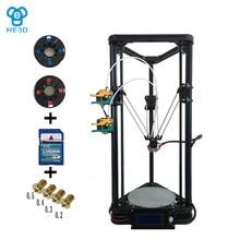 New upgrade HE3D high presicion K200 dual aluminium extruder delta diy 3D printer_two rolls of filament for gift