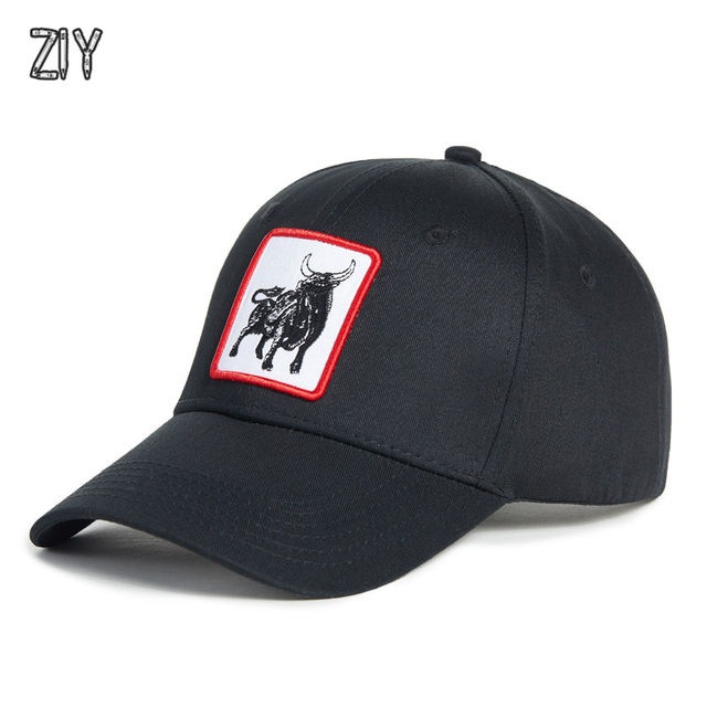 557ba8b5c0d Animals Embroidery Baseball Cap men women Unisex Streetwear hip hop modis  cap bone snapback cotton casual