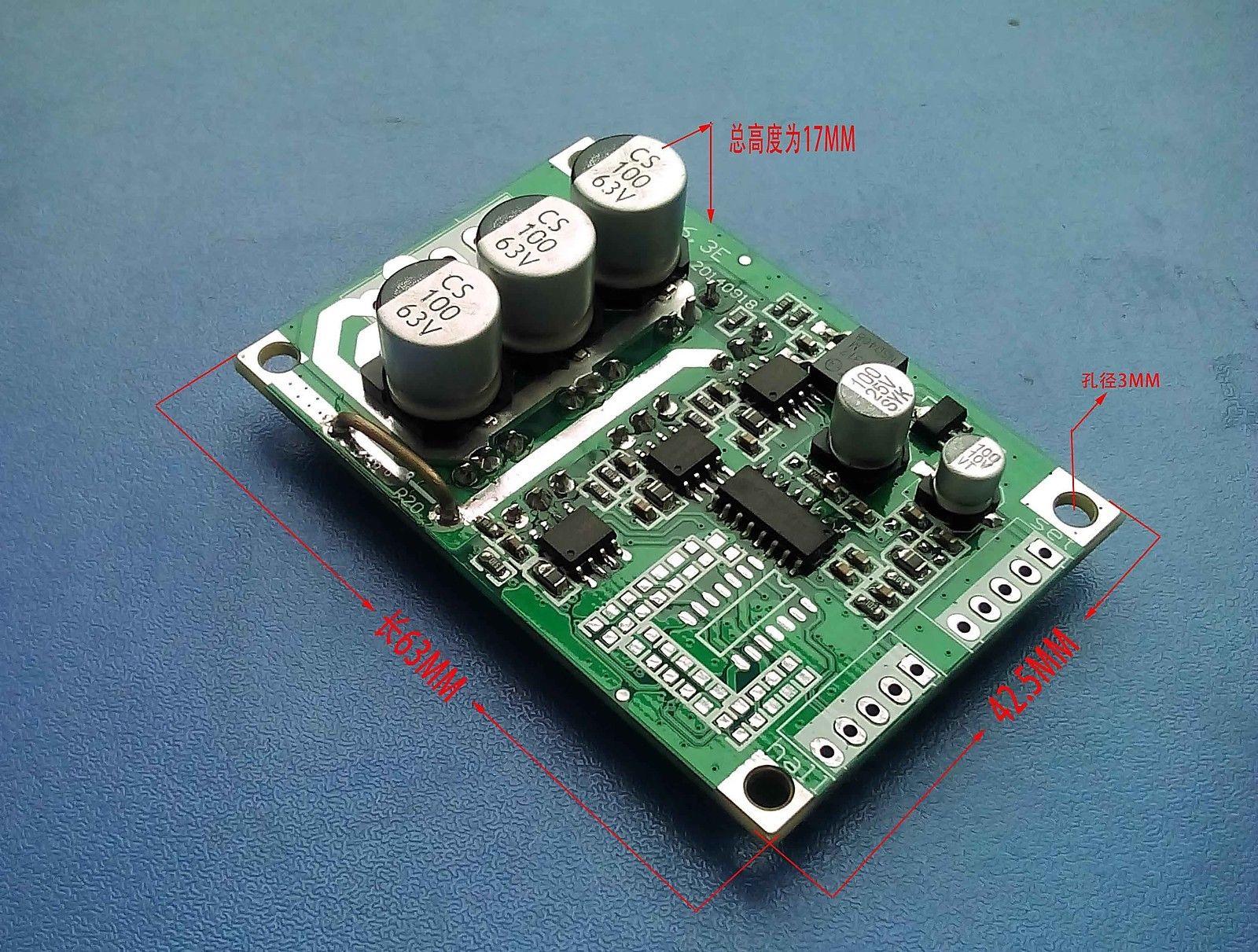 Dc 12v 24v 36v 500w brushless motor controller hall motor for Etek r brushed dc electric motor