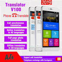 2019 new 5.99-inch large screen V100 Two-Way simultaneous voice translator smart phone offline smart multi-language dictionary