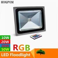 Proyectores de Led RGB de 10W  20W  30W  50W  rojo  verde  azul  RGB  reflector Led para exteriores  luz de jardín impermeable + mando a distancia