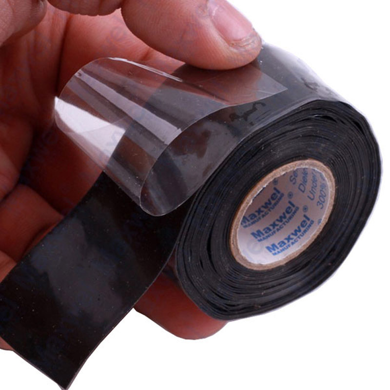 Handige Waterdichte Siliconen Reparatie Tape Bonding Rescue Zelf Fusing Slang Zwarte Tuin Waterleiding Connector 1