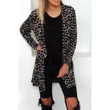 2019 Autumn And Winter New Fashion Leopard Print long-sleeved Cardigan Women Ponchos Capes G0615