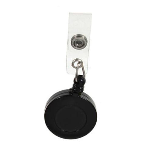 5X 1 Pcs Badge Holder Retractable Reel YOYO Clip Snap Button ID Card Key Black