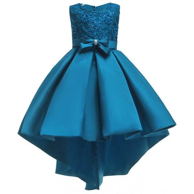 Kids Dresses for Girl Satin embroidery Toddler Elegant party Gown for Wedding Kids Girl Dress Princess Dress Girl Tuxedo Costume
