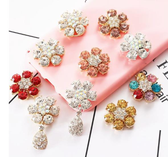 Analytical Ten Kinds Of Style Big Drill Alloy Button 100pcs/lot 24mm Rhinestone Alloy Buttons Crystal For Wedding/party/dress Accessories Home & Garden Arts,crafts & Sewing