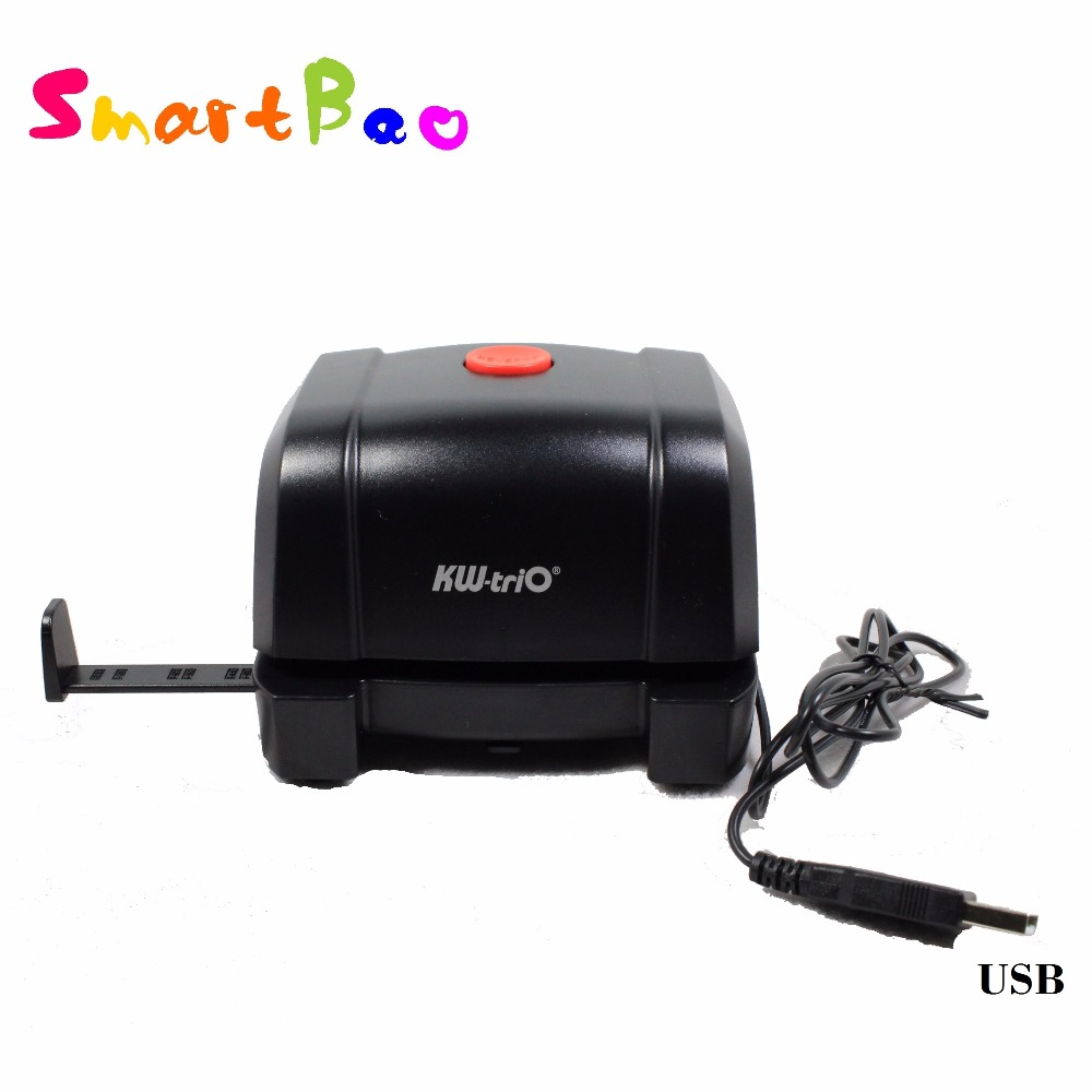 Auto Electric Hole Punch 2 Holes Handy Device USB Plug and AA Batteries Personal Electric 2
