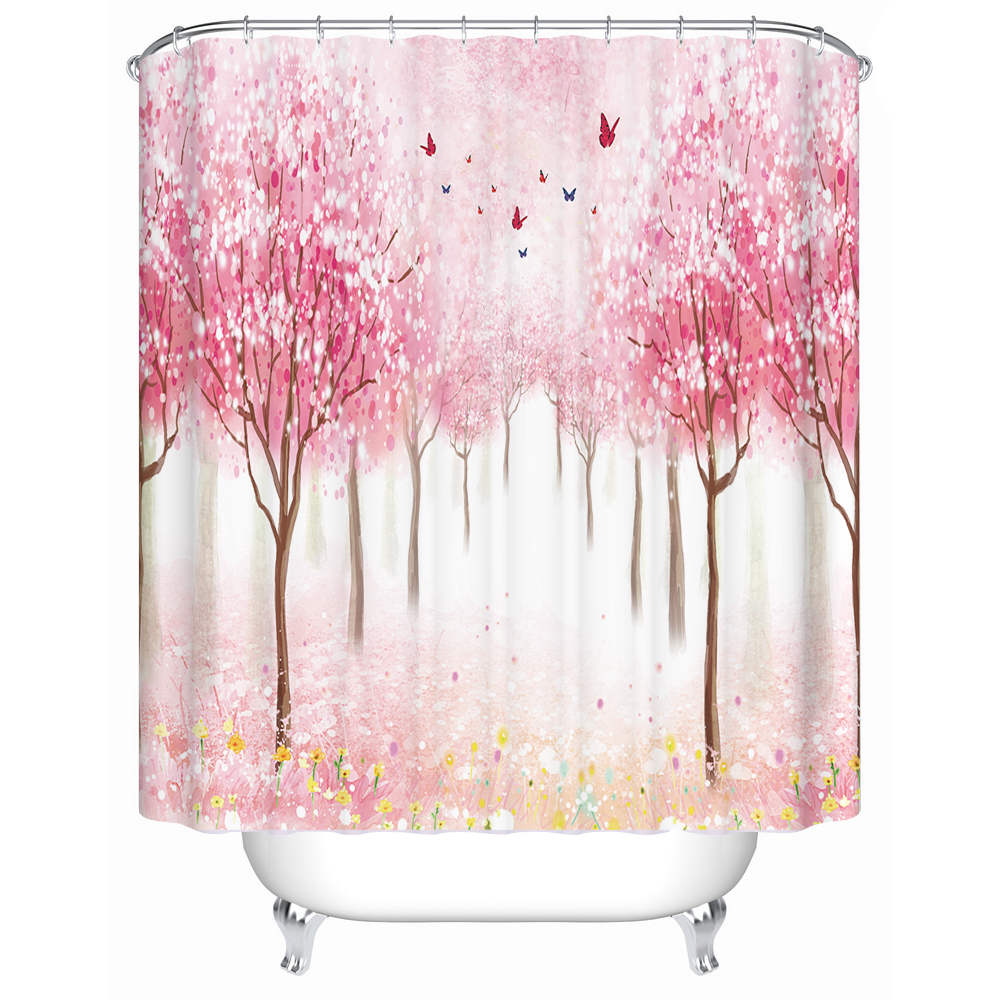 Custom Shower Curtain Bathroom Waterproof Bath Screen