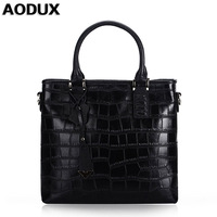 AODUX 2018 Genuine Leather Small Women Bucket Tote Bags Ladies Real Leather Female Handbags Teenagers Messenger Bag Hobo Satchel
