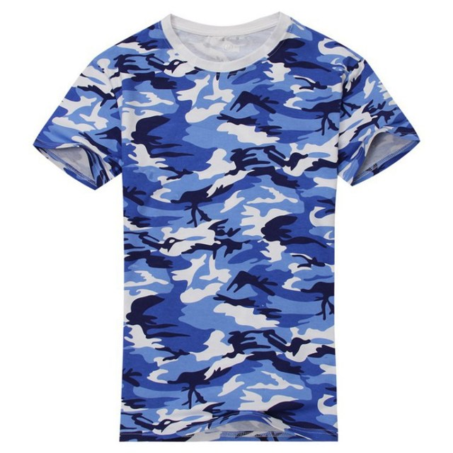 d069e892 2018 New Casual Camouflage T-shirt Men Cotton Army Tactical Combat Military  Camo Camp Fashion Tee Shirt Homme G6