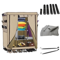 69 High leg Non woven Fabric Assembled Cloth Wardrobe DIY Closet Dropshipping