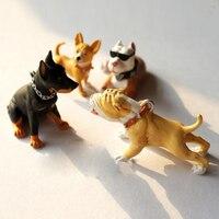 G05 X4498 Children Baby Gift Toy 1 12 Dollhouse Mini Furniture Miniature Rement Hound Dog 4pcs
