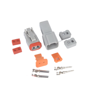 Image 2 - Водонепроницаемый Электрический автомобильный провод, 1 комплект, 2/3/4/6/8/10/ Pin, 14 18 AWG 12P, гнездовой и мужской, серый, для соединителя автомобиля
