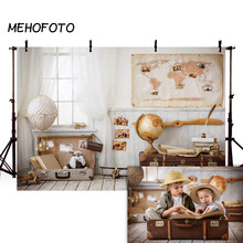 MEHOFOTO Children Travel Photography Backdrops Newborn Baby Boy Room Toy Pilot Background Photobooth Photo Studio Props