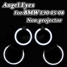 CCFL Angel Eyes Halo Anéis Kit DRL Para BMW Série 3 E90 2005-2008 Não-projetor Farol Branco boa Qualidade