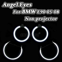 R8 Hot Sell Halo Rings DRL Kit CCFL Angel Eyes For BMW 3 Series E90 2005 2008 Non projector Headlight 6500K White Good Quality