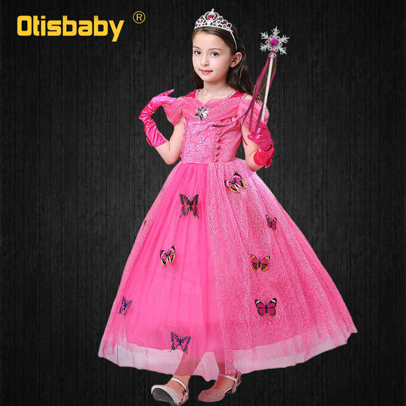 30870a59a ... Childrens Girl Fairy Beauty and The Beast Belle Princess Costume Fancy Baby  Girls Rapunzel Fille Kids