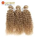 Top 8A Unprocessed Malaysian Curly Hair 3Bundles #27 Cheap Blonde Curly Weave Virgin Human Hair Bundles Virgin Hair Extensions