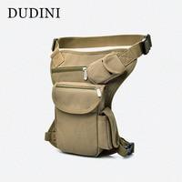 DUDINI Riding Fashion Canvas Waist Packs Tactics Multi Functional Belt Bag Leg Men S Leisure Pockets