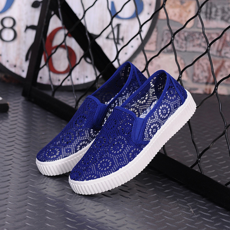 2017 Summer Flat Shoes Woman Casual Outdoor Women s Single shoes Leisure Hollow Breathable Women Walking