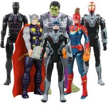 цена 30cm Infinity War Marvel Super Hero Avengers 4 Thanos Hulk Spider Man Iron Man Captain Action Figure Modell Doll Kids Toys Gift онлайн в 2017 году