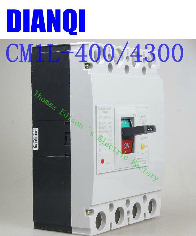 CM1L-400/4300 MCCB 200A 250A 315A 350A 400A molded case circuit breaker CM1L-100 Moulded Case Circuit Breaker 350a 3p mccb 35ka moulded case circuit breaker suits for south africa