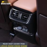 GELINSI rear vent frame cover trim Sticker Cover Interior Accessories For Lexus ES200 ES300 ES260 Auto Car styling