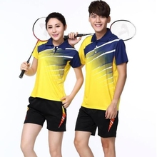 Футболка для бадминтона, рубашка для настольного тенниса, теннисные рубашки, футболки для пинг-понга, спортивная форма, юбка, шорты для бадминтона