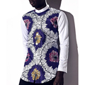 2016 summer African men clothing ankara dashiki wax batik printing pure cotton long sleeve buttons shirt man tops free shipping