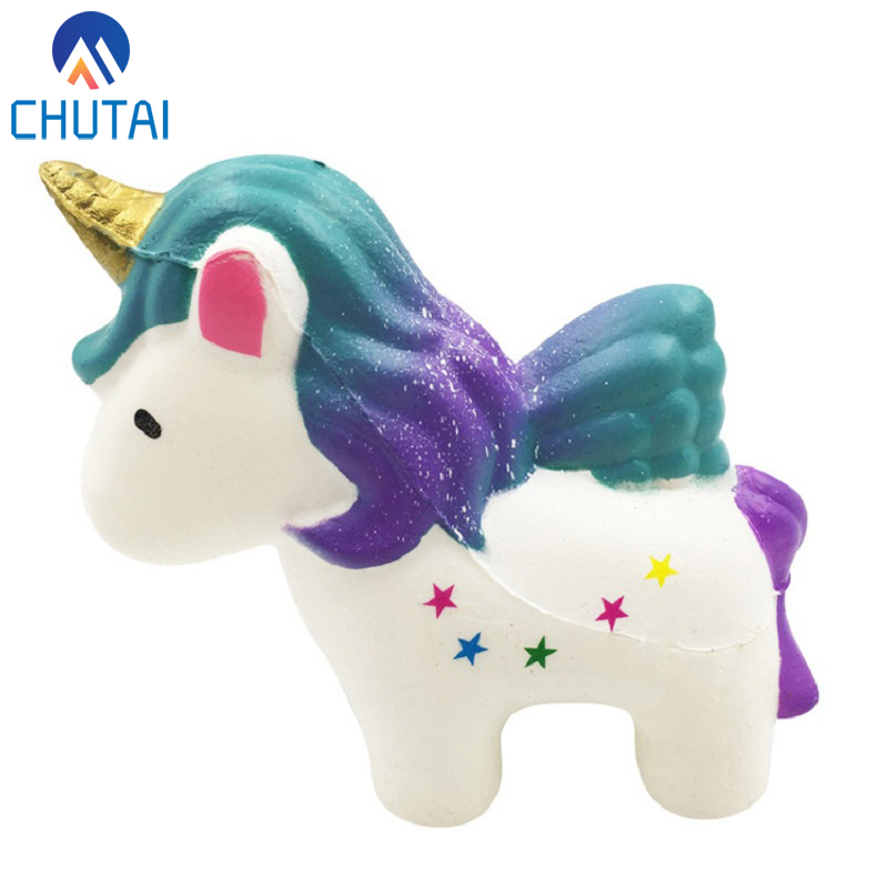 Jumbo Kawaii Squishy Unicorn Horse Soft Slow Rising Scented Squishies Kids Grownups Stress Relief Squeeze Toys Toy 12*11*5CM