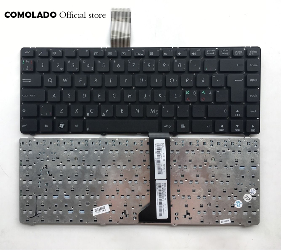 ND Nordic <font><b>Keyboard</b></font> For <font><b>ASUS</b></font> K46 K46CA K46CB <font><b>K46CM</b></font> S46C S46CB S46CM S46CA Black <font><b>Keyboard</b></font> ND Layout image