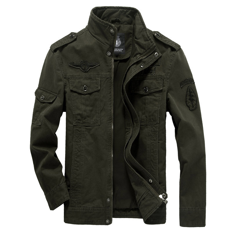 Cotton Military Jacket Men 2019 Autumn Soldier  MA-1 Style Army Jackets Male Brand Slothing Mens Bomber Jackets Plus Size M-6XL(China)