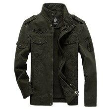 Хлопковая куртка в стиле милитари Для мужчин осень солдат MA-1 Стиль армейские куртки мужские брендовые Slothing Для мужчин s бомбардировщик куртка размера плюс M-6XL