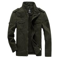 כותנה מעיל צבאי גברים 2020 סתיו חייל MA 1 סגנון צבא מעילי זכר מותג Slothing Mens מפציץ מעילי בתוספת גודל M 6XL