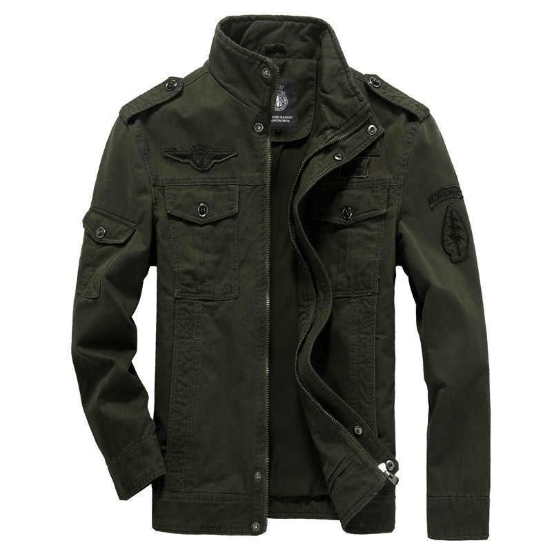 Chaqueta militar de algodón para hombre 2019 otoño soldado MA-1 Estilo ejército chaquetas hombre marca perezoso hombre bombardero chaquetas Plus tamaño M-6XL