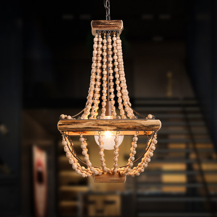 Amercian Edison Chandelier Light Fixtures Indoor Lighting For Living Dining Room Wood Hanging Lamp Handmade Beaded DropLight sexus funny five вибратор розовый водонепроницаемый