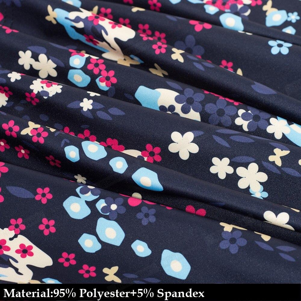 Vintage Elegant Floral Flare Swing Dress 5
