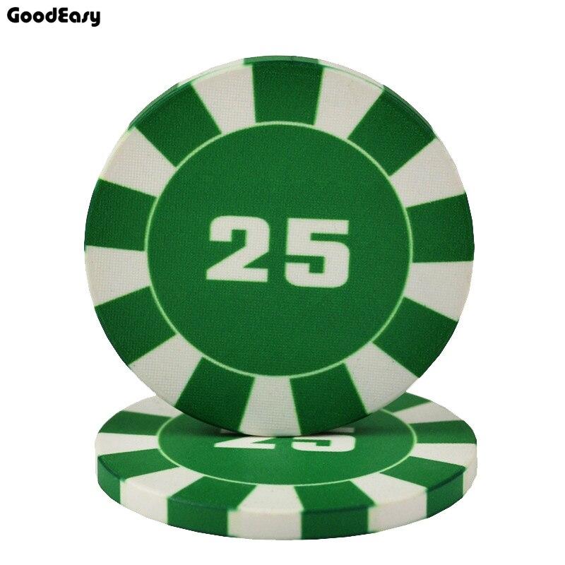25PCS/LOT Poker Chip 10g Ceramic Stripe Poker Chip Taxes Holdem Poker Wholesale Poker Chips Customize Chip