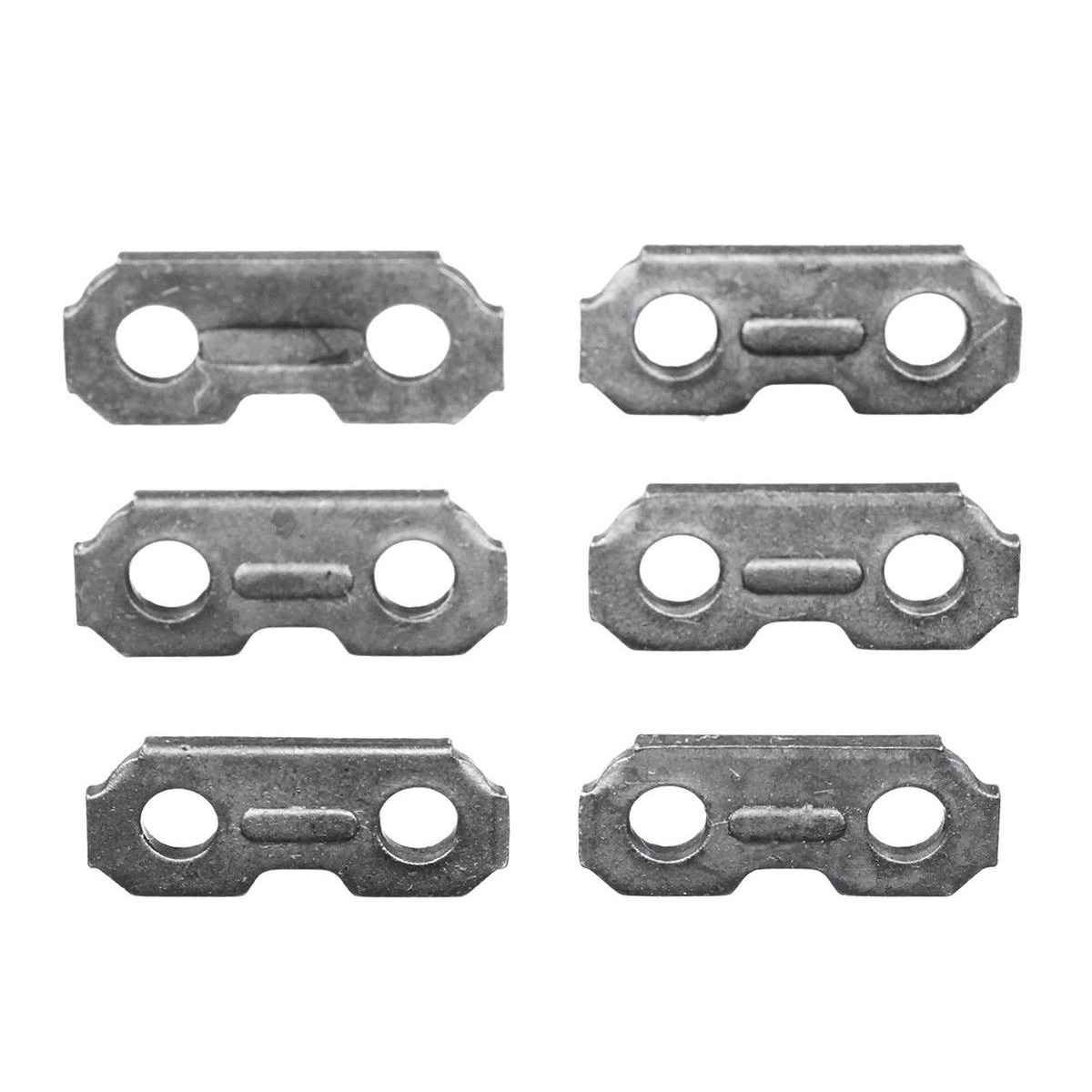 6pcs Saw Chain 3/8 0.063 For Joining Chains 17.5mmx6.9mm Steel Chainsaw Chain Joiner Link Chain Saw Parts
