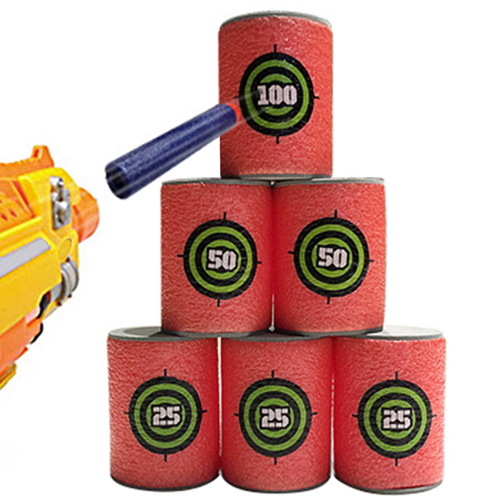 12 PCS EVA Soft Target Blasters for Nerf N-strike Elite Series Dart