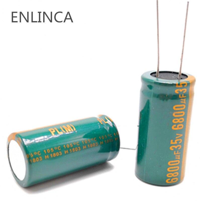 1pcs/lot H096 35v 6800UF Aluminum Electrolytic Capacitor Size 18*35 6800UF35V 20%