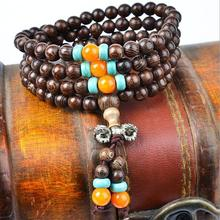 2015 Free shipping Classic 108 natural bracelets Vintage Wooden Bracelet for women felame and male Jewelry Accessories LQ