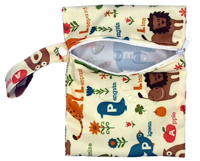 HTB19c..mGagSKJjy0Fgq6ARqFXad Reusable Nursing Pads Single Zippers Sanitary Pads Washable Wet Bags Nappy Bags Printed Waterproof Wetbag Diaper Bags 16*20cm