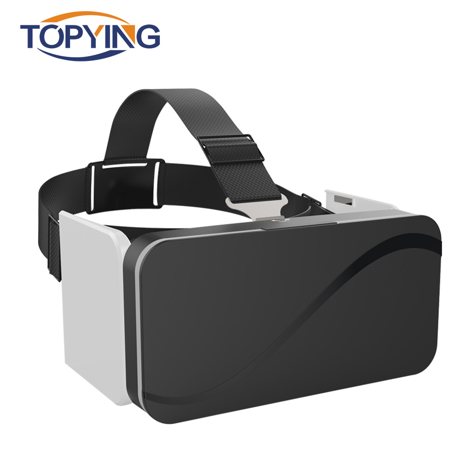 VR Box Headsets 3D VR Glasses Foldable Virtual Reality Goggles For Smartphones 4.7-6.0″ Googles Cardboard Live Video Experience